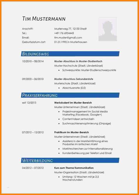 Lebenslauf Muster Kostenlos 2014 by Lebenslauf Kostenlose Vorlage Word Lebenslauf Vorlage