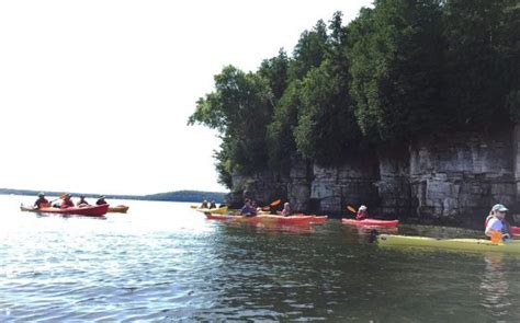 door county kayaking door county kayak tours cave point ephraim clark lake