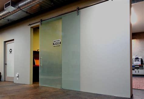 Modern Glass Interior Barn Doors