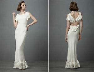 vintage wedding ideas 1930s bridal style gowns bhldn With 1930s style wedding dresses