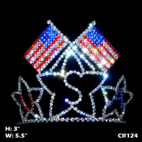 Usa Flag Pageant Tiara Independence Day Crown(id8059670