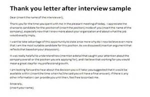 post residency interview thank you note sample