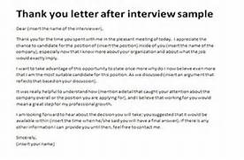 Thank You Letter After Interview Sample Appreciation Letter Interview Sample Thank You Letter After Interview Tips And Template Thank You Letter After Job Interview 15 Download Free Documents In Job Rejection Letter After Interview Rejection Letter Template Job