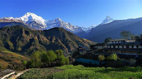 annapurna panorama view trekking  days annapurna
