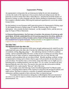 Argumentative essay sample bio letter format for Resume paper sample