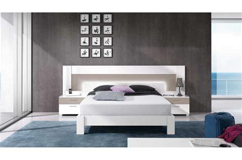 chambre bébé bleu et blanc lit moderne 2 personnes blanc et basalte trendymobilier com