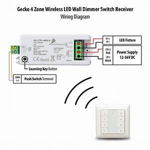 Gecko Wireless 4 Zone Led Wall Dimmer Switch