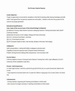 Primary teacher resume examples resume ideas for Pre primary school teacher resume sample