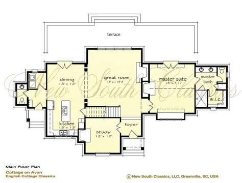 open kitchen great room floor plans new south classics cottage on avon 9008