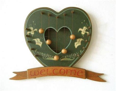 vintage rustic heart door harp wooden frame