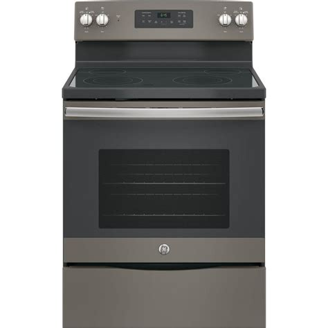 home depot standing ls ge 30 in 5 3 cu ft free standing electric range with