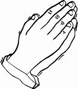 Hands Praying Coloring Pages Hand Printable Prayer Colouring Symbols Children Sheets Template Christian Outline Colour Clipart Getcoloringpages Open Clip Bible sketch template