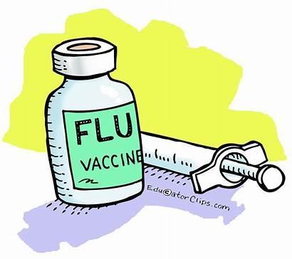 Flu Clip Shot Clipart Vaccine Vaccination Clinic