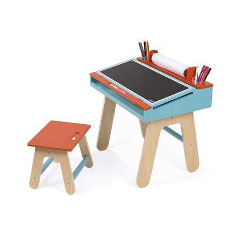 chaise bureau orange bureau et chaise orange et bleu janod