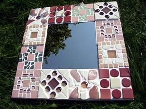 Spiegel Zum Basteln : rosa mosaikspiegel meriseimorion ~ Orissabook.com Haus und Dekorationen