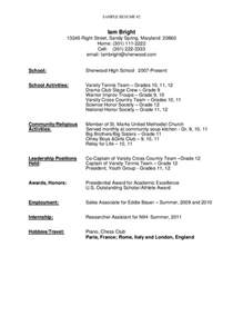 resume templates for high school graduate sle resume for high school graduate free