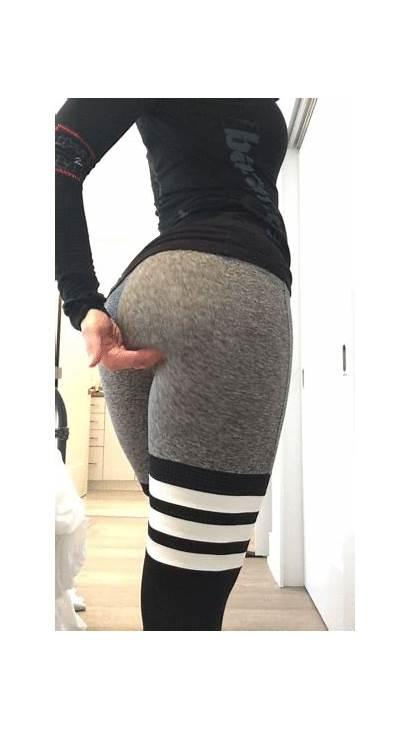 Yoga Pants Hotties Bringing Heat Thighs Wow