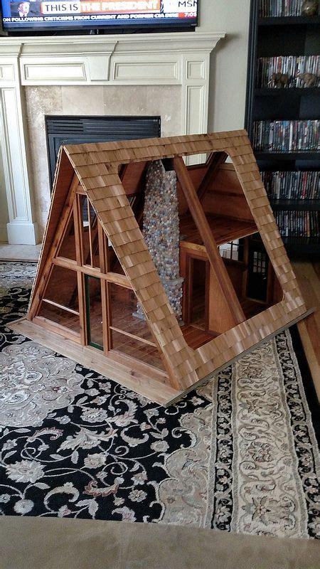 scale  frame cabin project doll house plans  frame cabin log furniture plans