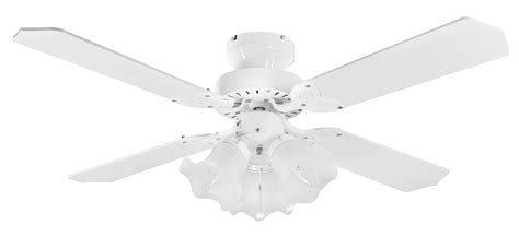 eurofans 36 white ceiling fan integral light 110248