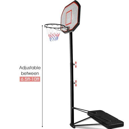 costway ft  backboard inoutdoor adjustable height