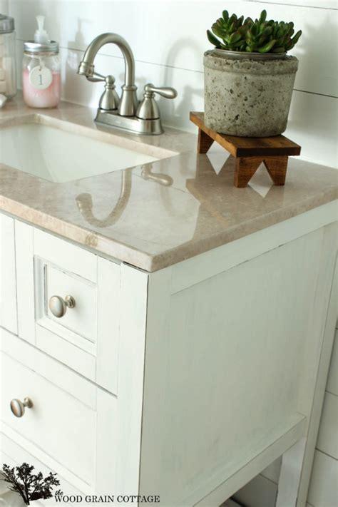 Powder Bathroom Vanity Makeover  The Wood Grain Cottage