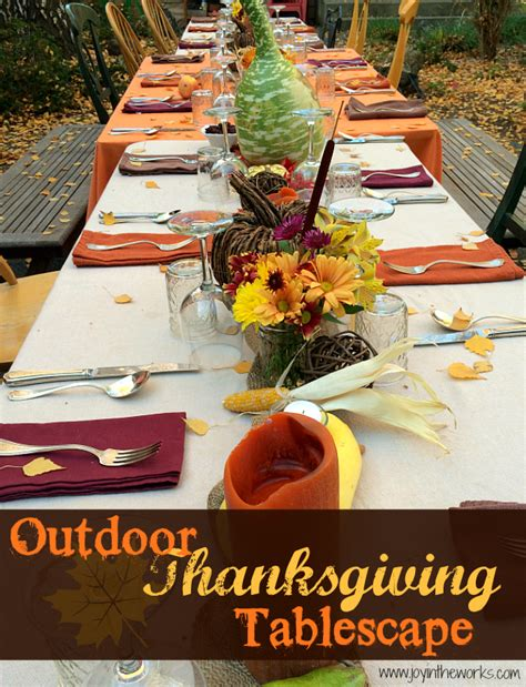 thanksgiving outdoor table decorations outdoor thanksgiving tablescape joy in the works