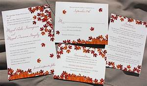 Fall tree maple leaves pumpkins wedding invitations for Fall wedding invitations with pumpkins
