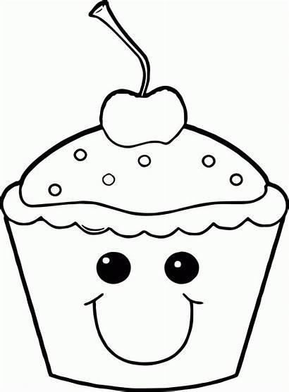Coloring Smile Cupcake Popular