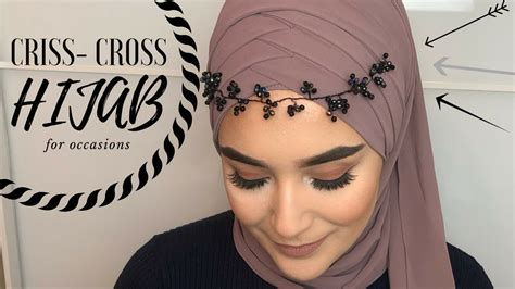 criss cross hijab style  occasional youtube