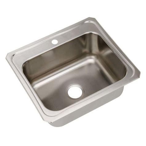 1 basin kitchen sink elkay celebrity drop in stainless steel 25 in 1 hole