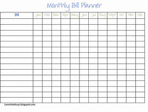image gallery monthly bill chart due With free bill paying organizer template