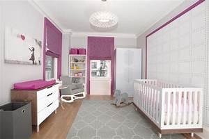 Wandgestaltung Kinderzimmer Mädchen : babyzimmer einrichten 50 s e ideen f r m dchen ~ A.2002-acura-tl-radio.info Haus und Dekorationen