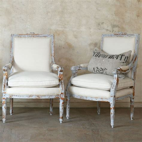 Sessel Vintage Stil by The Unique Louis Xvi Gustavian Grey Chair Set