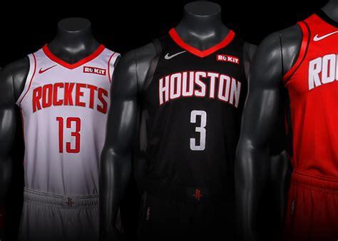 rockets reveal uniforms nba season houston rockets