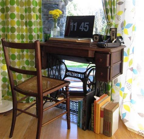sewing machine desk ideas sewing machines that are repurposed refurbished ideas