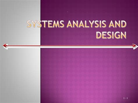 system analysis and design system analysis and design management information system