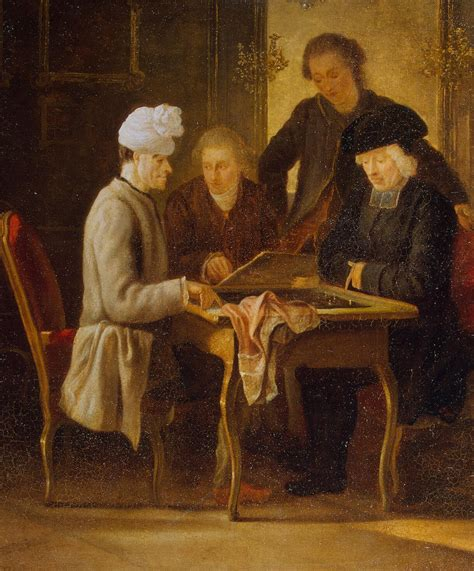 Voltaire Illuminismo by Voltaire At A Chess Table Painting Huber Jean Paintings