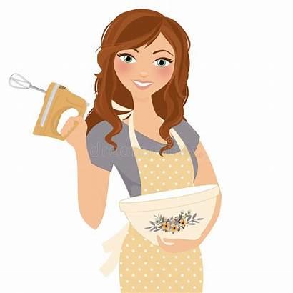 Baking Woman Cooking Mixer Hand Bowl Cookies