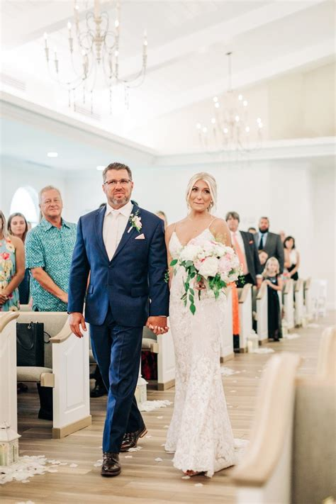Romantic White and Neutral Safety Harbor Wedding