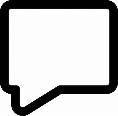 Message Bubble Icon Empty Speech Svg Rectangular