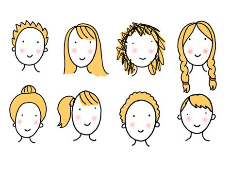 fun easy  draw cartoon hairstyles   characters