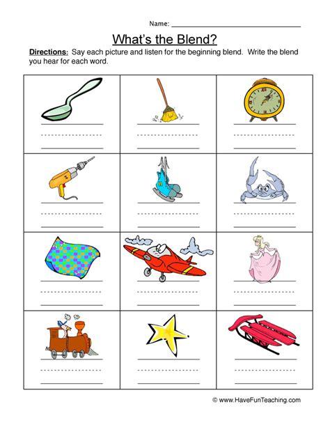 blends worksheets teaching beginning consonant blends worksheets kidz activities