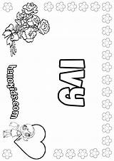 Ivy Coloring Pages Designlooter Names Hellokids 41kb 849px sketch template