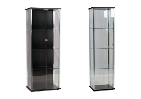 hatton chrome glass display cabinets    door