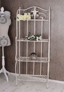 Regal Shabby Chic : metal regal white bathroom shelf shabby chic iron shelf standing shelf ebay ~ One.caynefoto.club Haus und Dekorationen