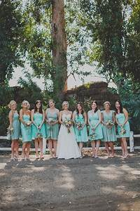California Ranch Wedding | Mismatched bridesmaid dresses ...