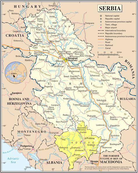 GEOGRAFSKA KARTA SRBIJE | Serbia, Serbia and montenegro ...