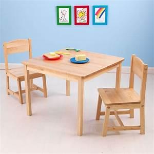 Table Et Chaise Enfant : table et chaises enfant en bois bois clair ~ Nature-et-papiers.com Idées de Décoration