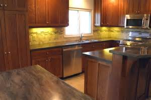 quatersawn white oak cabinets with custom tile backsplash compstonconstruction