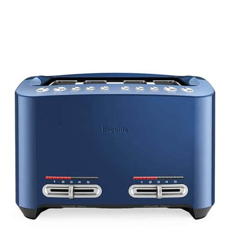 Breville Blue Toaster - breville the smart toaster 4 slice elderberry on sale now